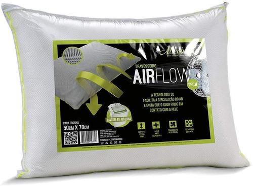 travesseiro airflow altenburg branco suporte firme 50x70 cm