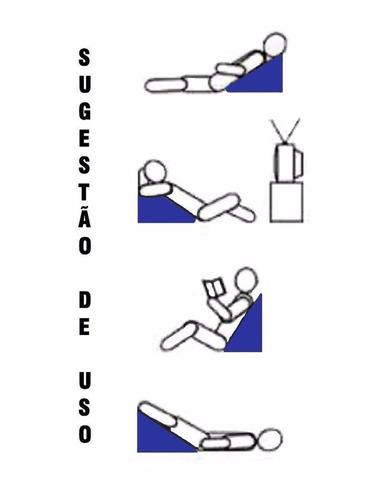 travesseiro almofada anti refluxo triângular de espuma