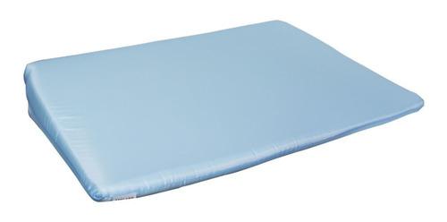 travesseiro anti-refluxo para berço na cor :azul/rosa/branco