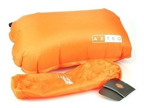 travesseiro auto inflável looper azteq expedições camping