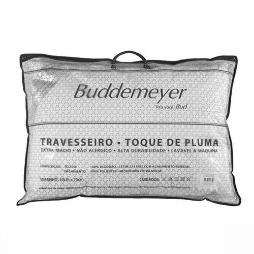travesseiro buddemeyer toque de pluma 50 x 70 - imbativel