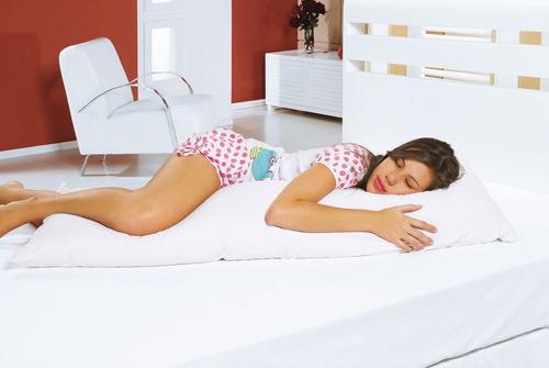 travesseiro corpo grande 300 x 48cm + fronha percal 180 fios