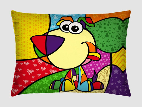 travesseiro decorativo pop art - kit com 2 - romero brito