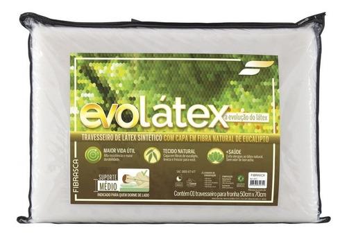 travesseiro evolátex médio fibrasca evolução do látex full