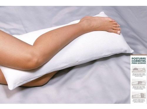 travesseiro fibrasca siliconizada p/joelho 35x80