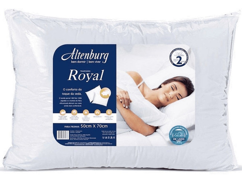 travesseiro firme altenburg royal branco 180 fios 50x70 cm