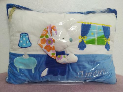 travesseiro infantil religioso amém oração reza batismo orar