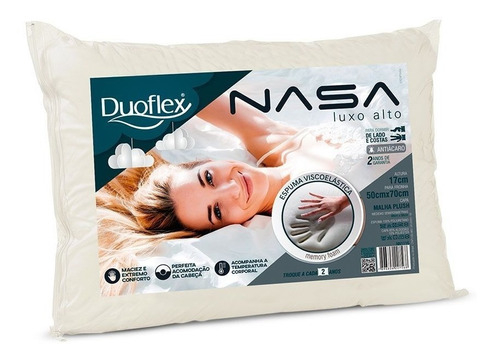 travesseiro nasa duoflex alto luxo nn1116