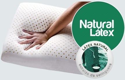 travesseiro natural látex duoflex 50x70x16-ln1100 conforto