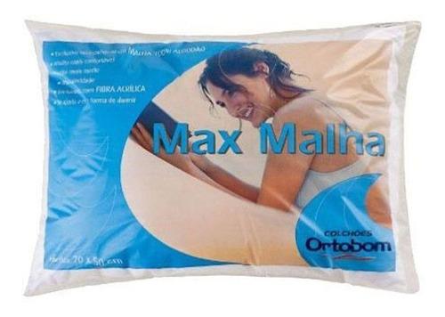 travesseiro ortobom max malha fibras siliconizada