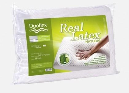 travesseiro real látex duoflex