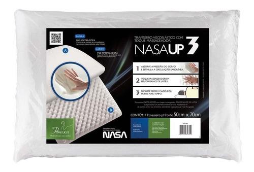 travesseiro viscoelástico nasa up3 fibrasca 50x70 cm