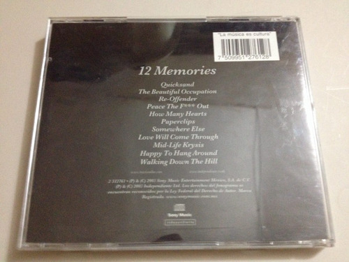 travis 12 memories cd usado nacional