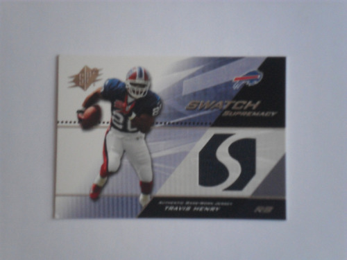 travis henry tarj c jsy swatch supremacy  2007 bills