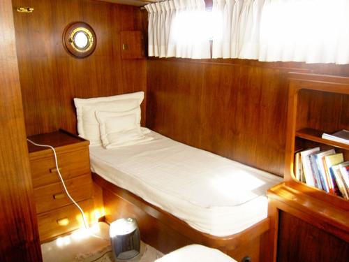 trawler acero - 2 perkins 140hp - mooney embarcaciones