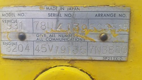 traxcavo caterpillar 931