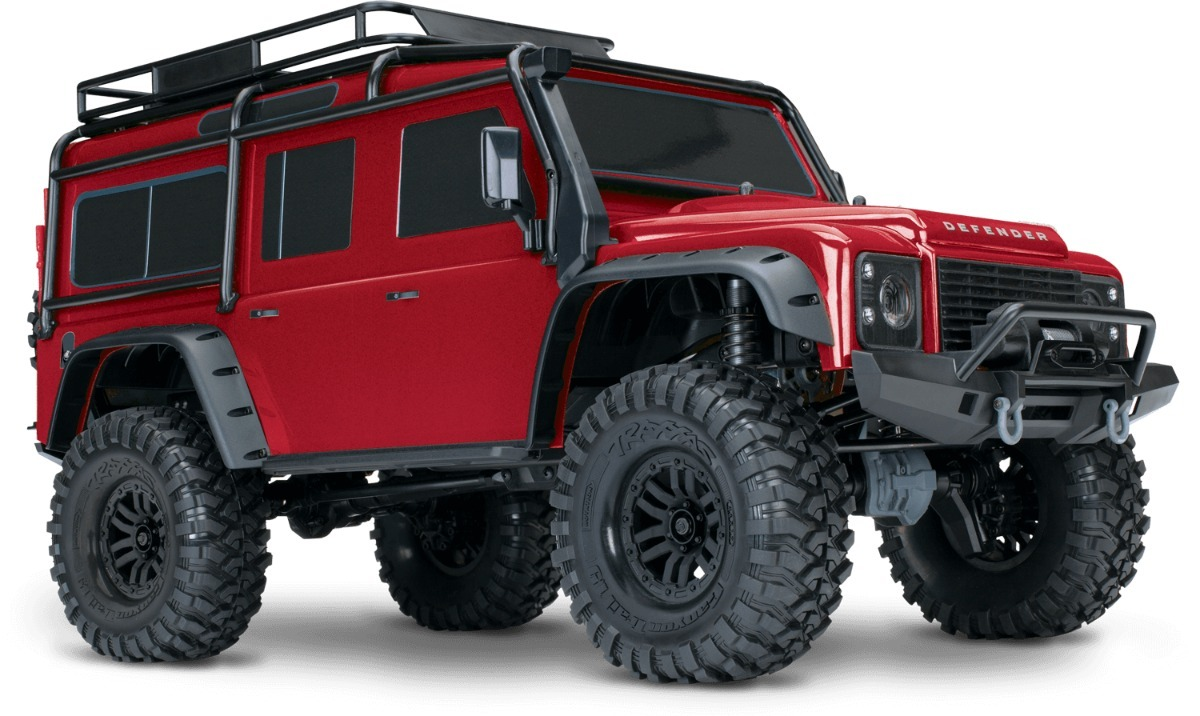 Traxxas Trail Rock Crawler W/land Rover Defender Body (red) - Bs ...