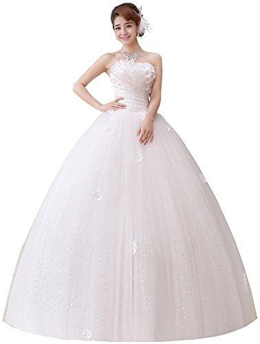 trébol vestido de novia 2017 diseño sin tirantes plisado c