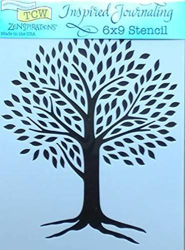 tree of life and mystic tree stencils  mixed media sten...
