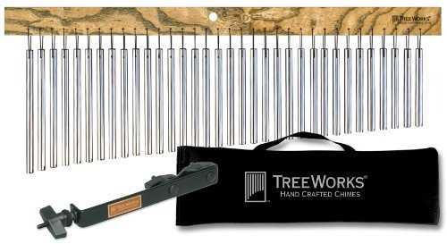 treeworks chimes tre35 bar chime, single-row wind chimes, fa