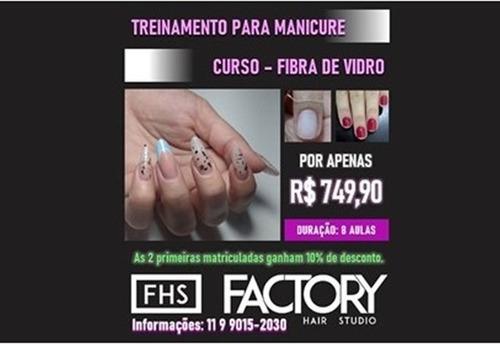 treinamento de manicure e curso de fibra de vidro
