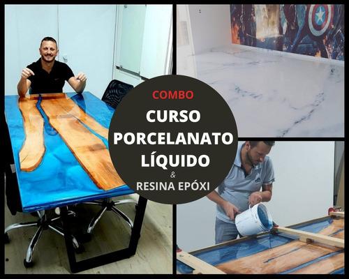 treinamento porcelanato líquido e resina epóxi