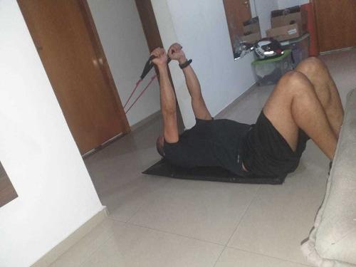 treino resistido para casa elástico extensor para treinar