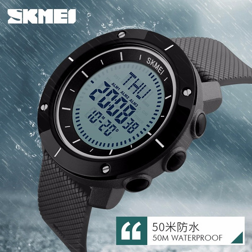 trekking digital brújula cronómetro hora mundial pu correa