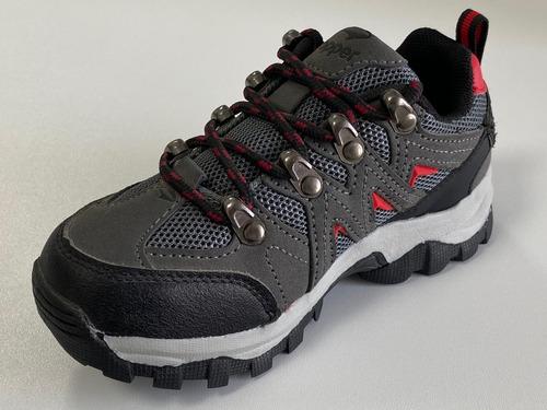 trekking gris negro rojo topper gondor kids 24563