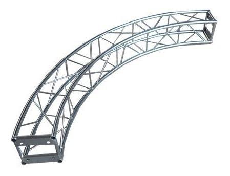 treliça torre circular curva 90 graus a20 1,5m auratec