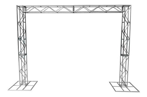 treliças kit trave box truss dj q20 aço 2,5/3m - lourenço