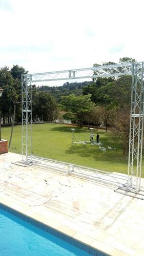 treliças kit trave box truss q15 backdrop aço 2,5 x 3m stfer