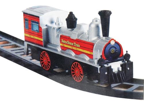 trem com locamotiva adesivos trilhos mini infantil ferrorama