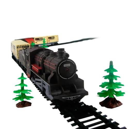 trem eletrico ferrorama infantil trenzinho 8003 - braskit