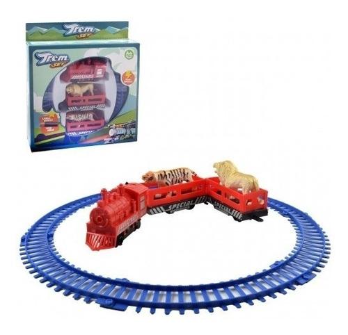 trem eletrico ferrorama infantil trenzinho + animais circo
