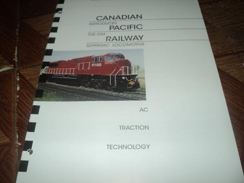 trem folheto catalogo locomotiva