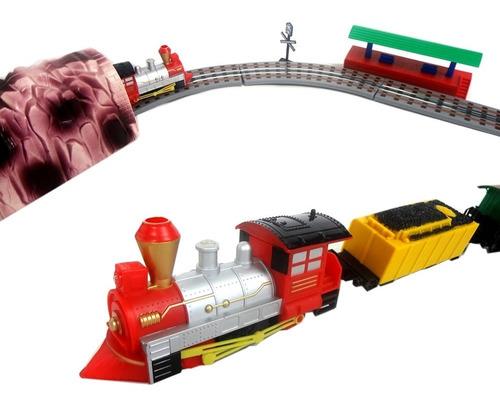 trem trenzinho mini locomotiva expresso com farol braskit