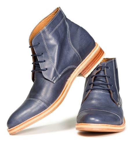 tremendo scarpe 2 pares de botas hombre cuero negro marron