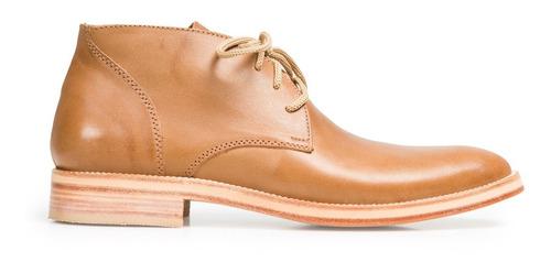 tremendo scarpe bota botita cuero baja hombre suela marron