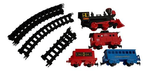 tren a batería forty niner 29 piezas 3.5 metros