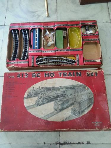 tren antiguo japones metalico decorativo