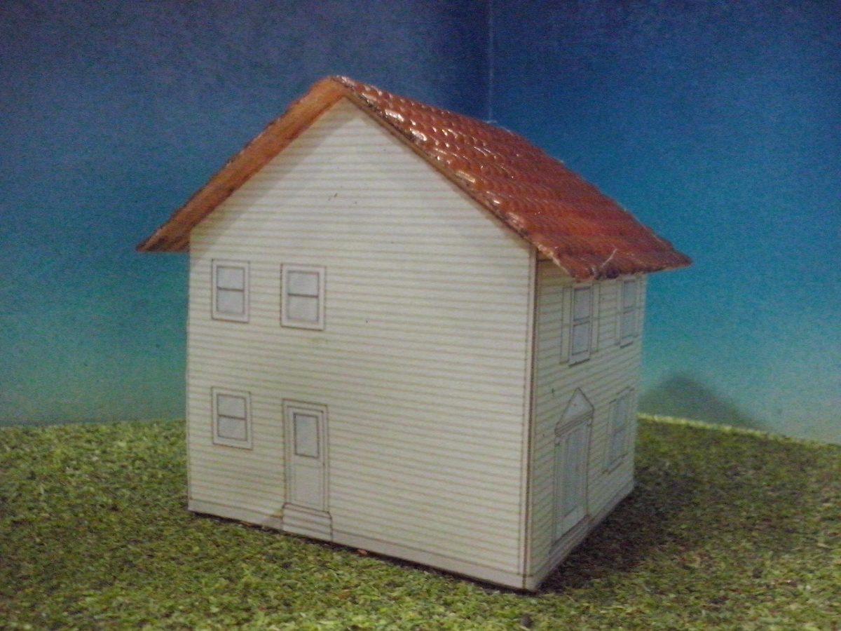Maquetas de casas hechas de carton tren casa de carton 1 escala ho maqueta trenes arquitecto js Casas hechas de carton