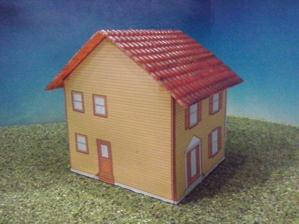 Tren casa de carton 2 escala ho maqueta trenes arquitecto for Opciones para construir una casa