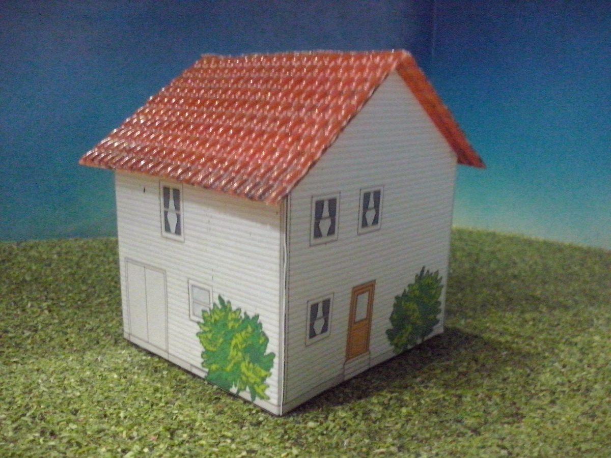 tren casa de carton 3 escala ho maqueta trenes arquitecto On casas hechas en carton