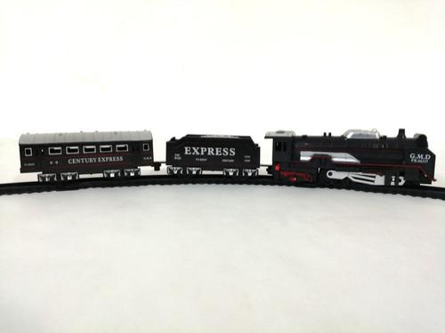 tren de carga y pasajeros express eléctrico juguete soldados