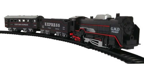 tren de pasajeros express eléctrico de juguete luz militar