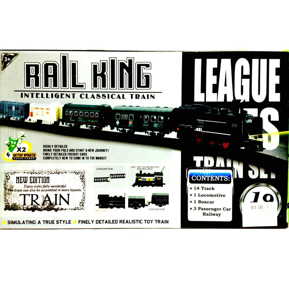 Tren el ctrico 4 vagones rail king oferta pilas gratis for Oferta pilas recargables