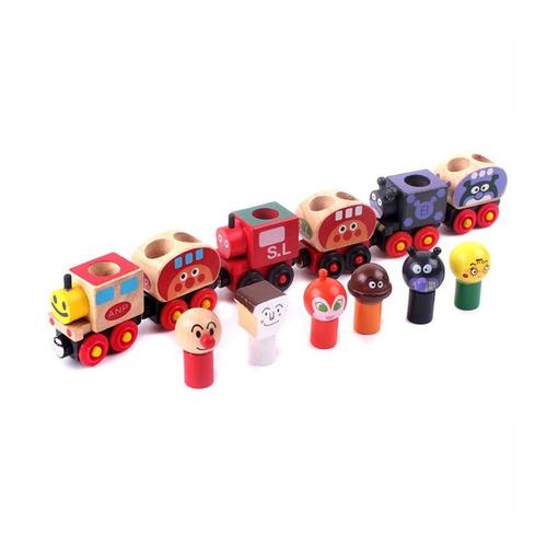 tren encastre imantado magnetico madera trencito didactico
