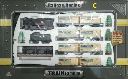 tren fenfa 5 vagones con luz y sonidos escala 1:87 promo