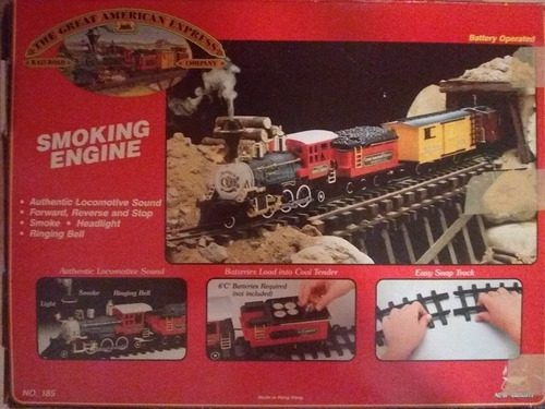 tren ferrocarril de baterias. en perfectas cond. juguete